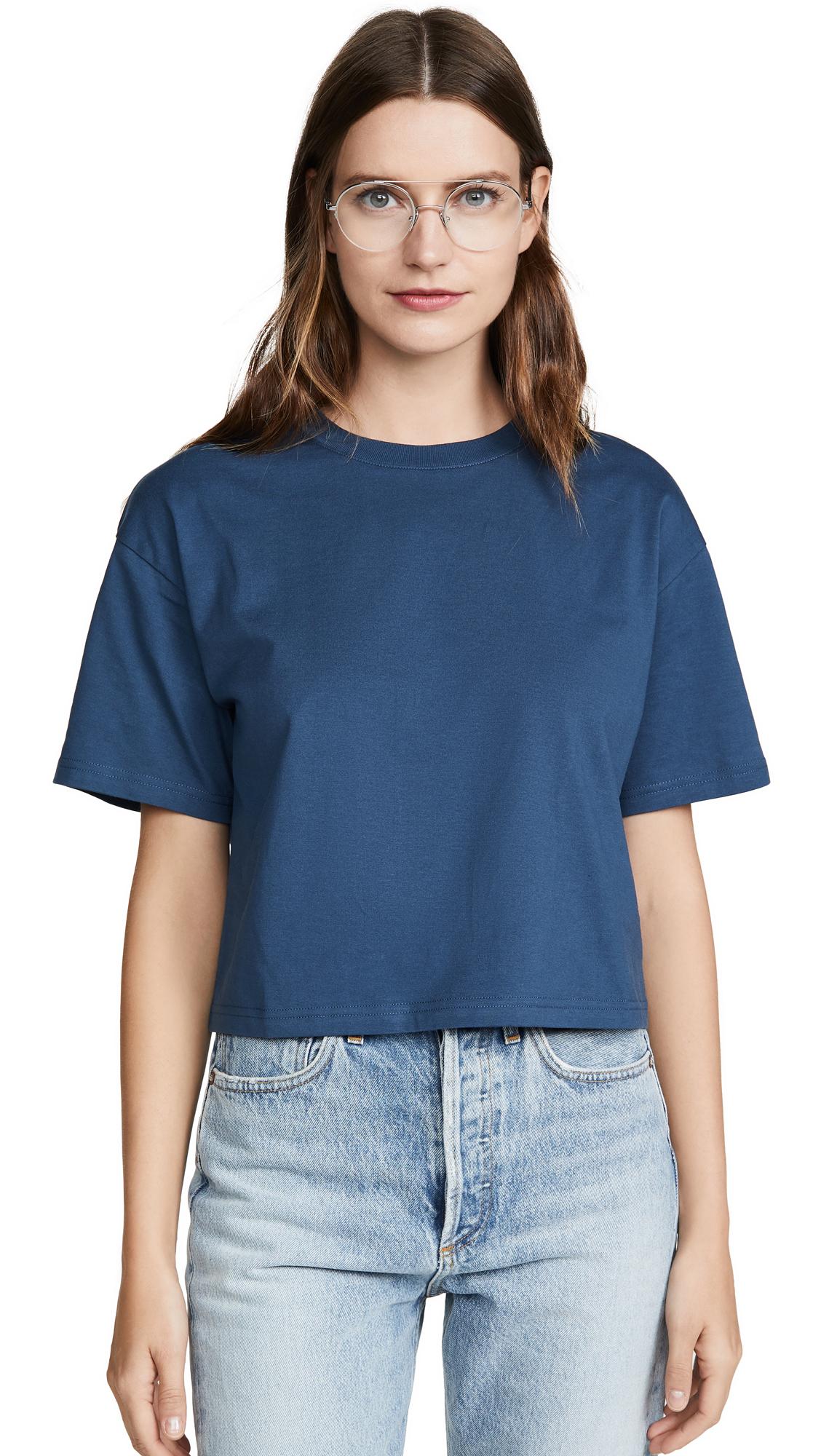 Acne Studios Elia Base T-Shirt - Teal Blue