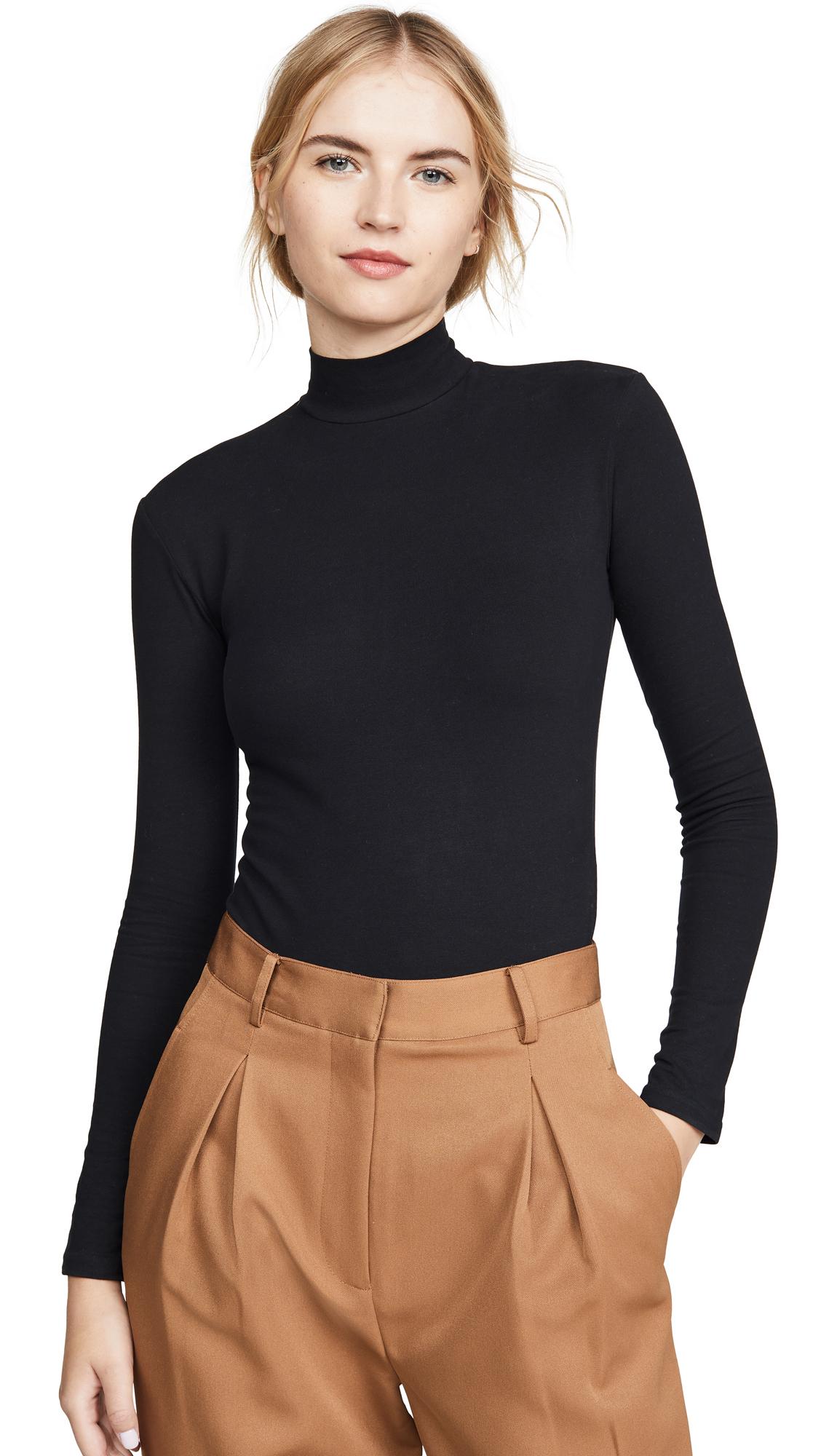 Acne Studios Emargaret Peached T-Shirt Bodysuit - Black
