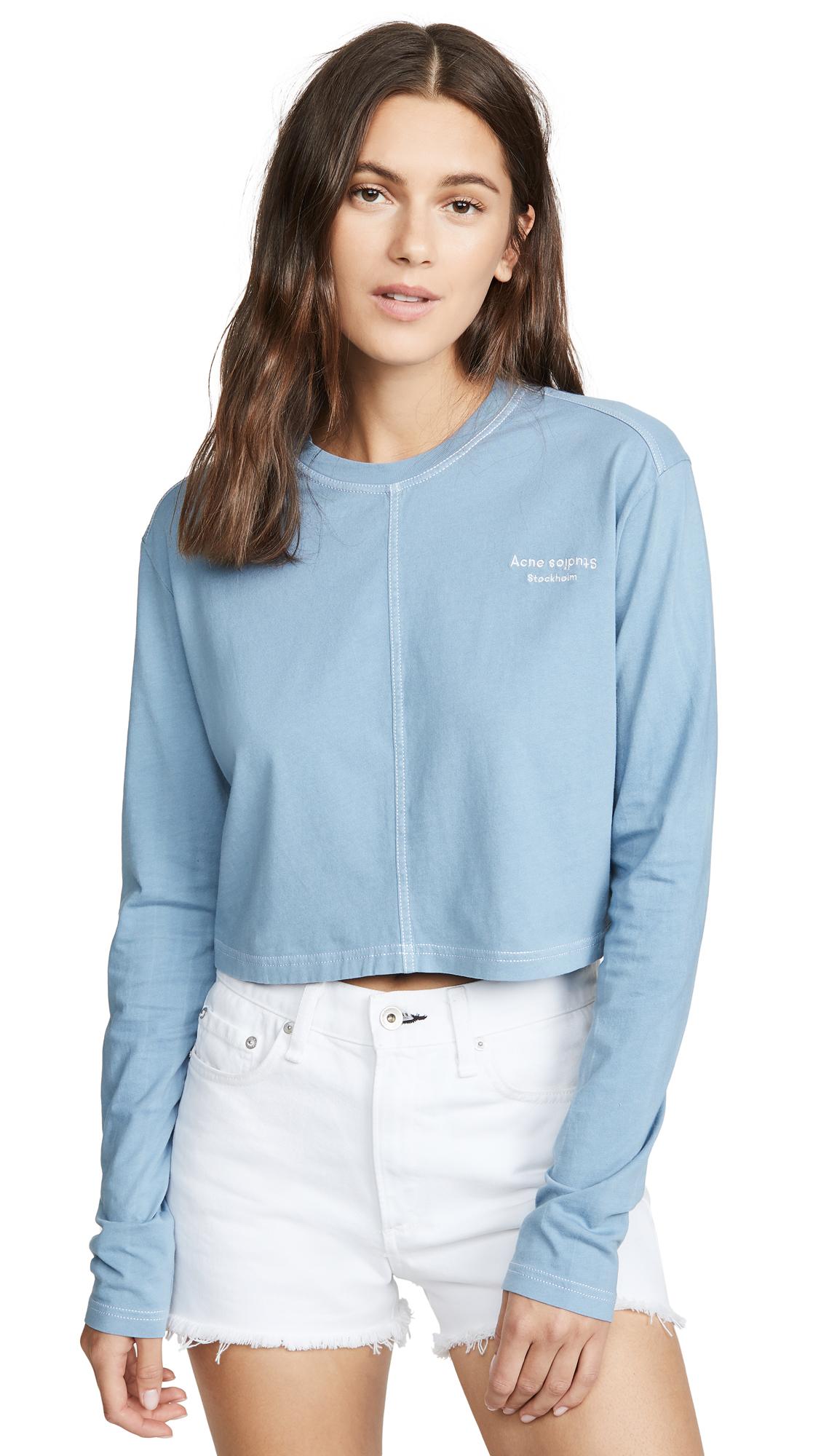 Acne Studios Elvana Acid Wash T-Shirt - Dusty Blue