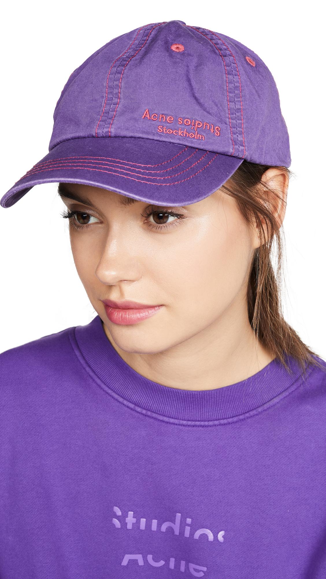 Acne Studios Carliy Dye Hat - Purple