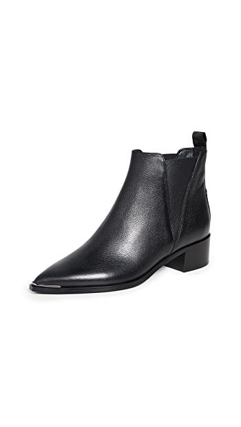 Acne Studios Jensen Grain Chelsea Booties - Black