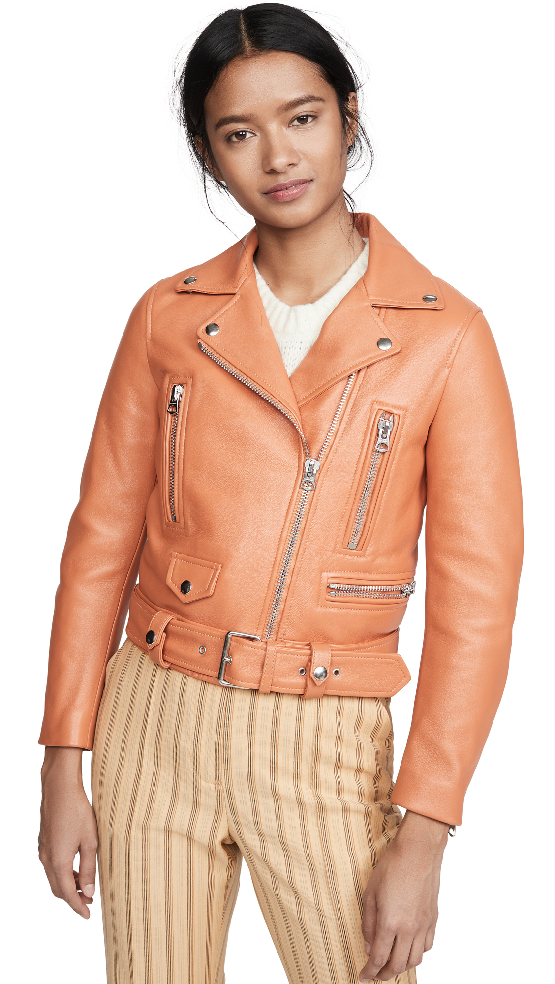 Buy Acne Studios Leather Moto Jacket online beautiful Acne Studios Clothing, Jackets