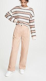 Acne Studios Pavi 棉质斜纹织物裤子