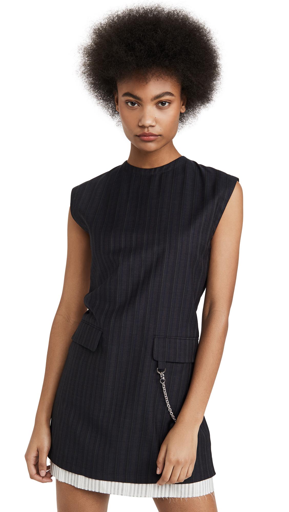 Buy Acne Studios online - photo of Acne Studios Doniella Pinstripe Dress