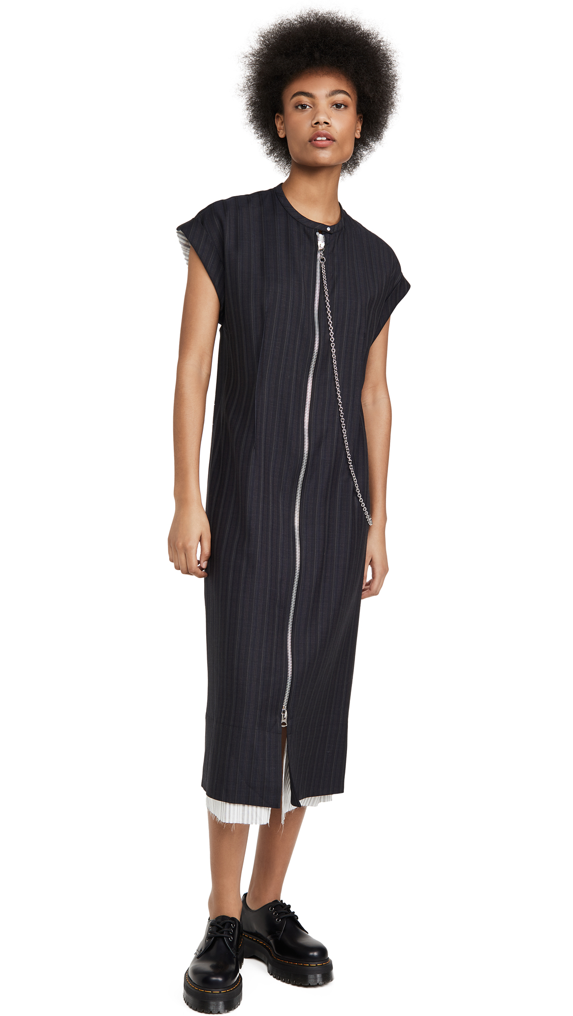 Buy Acne Studios online - photo of Acne Studios Di Pinstripe Dress