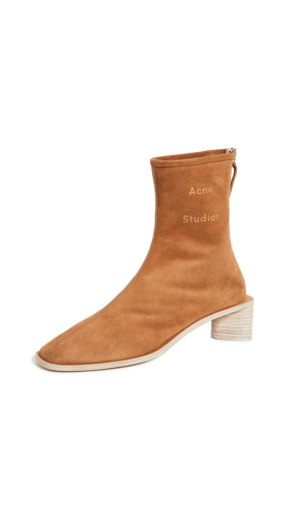 Buy Acne Studios online - photo of Acne Studios Branded Suede Booties