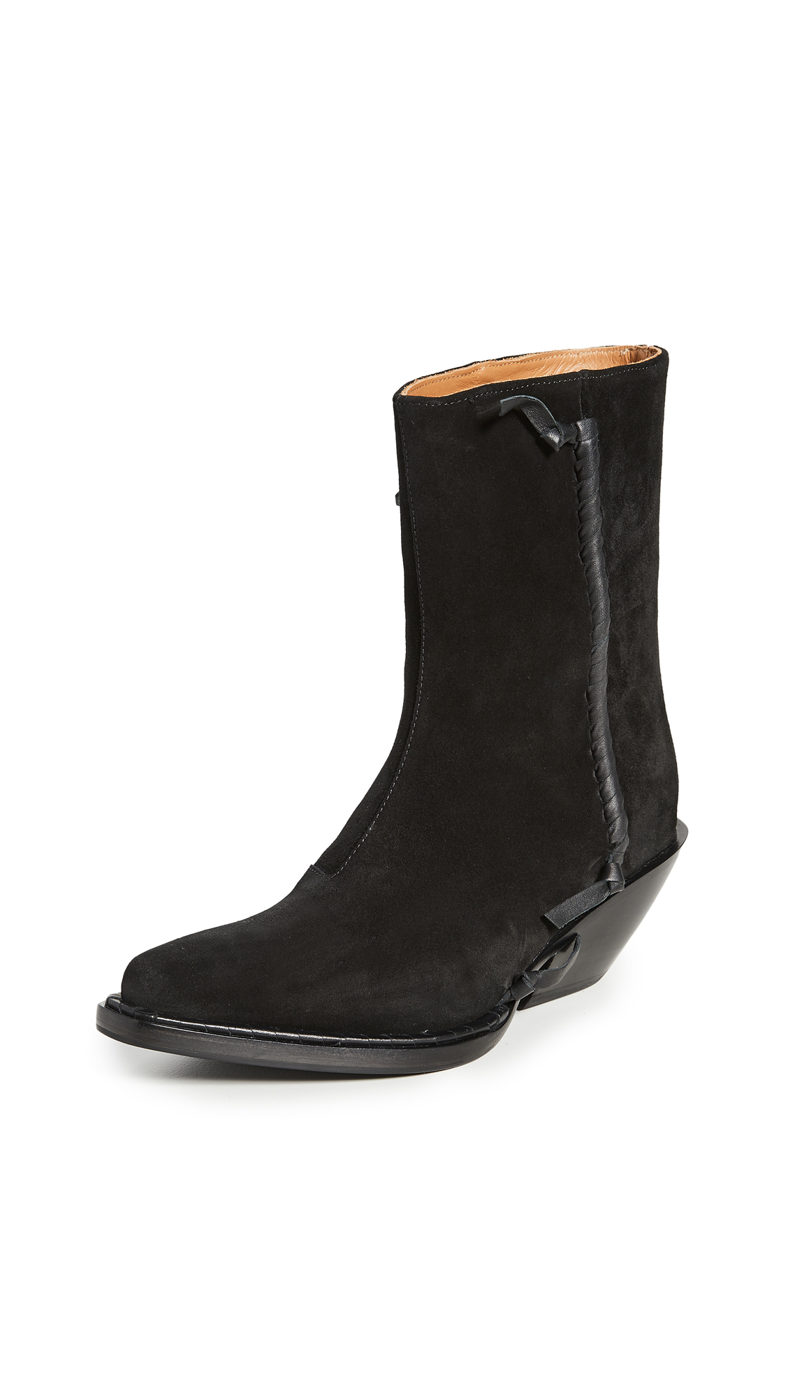 Acne Studios Suede Ankle Booties - 50% Off Sale