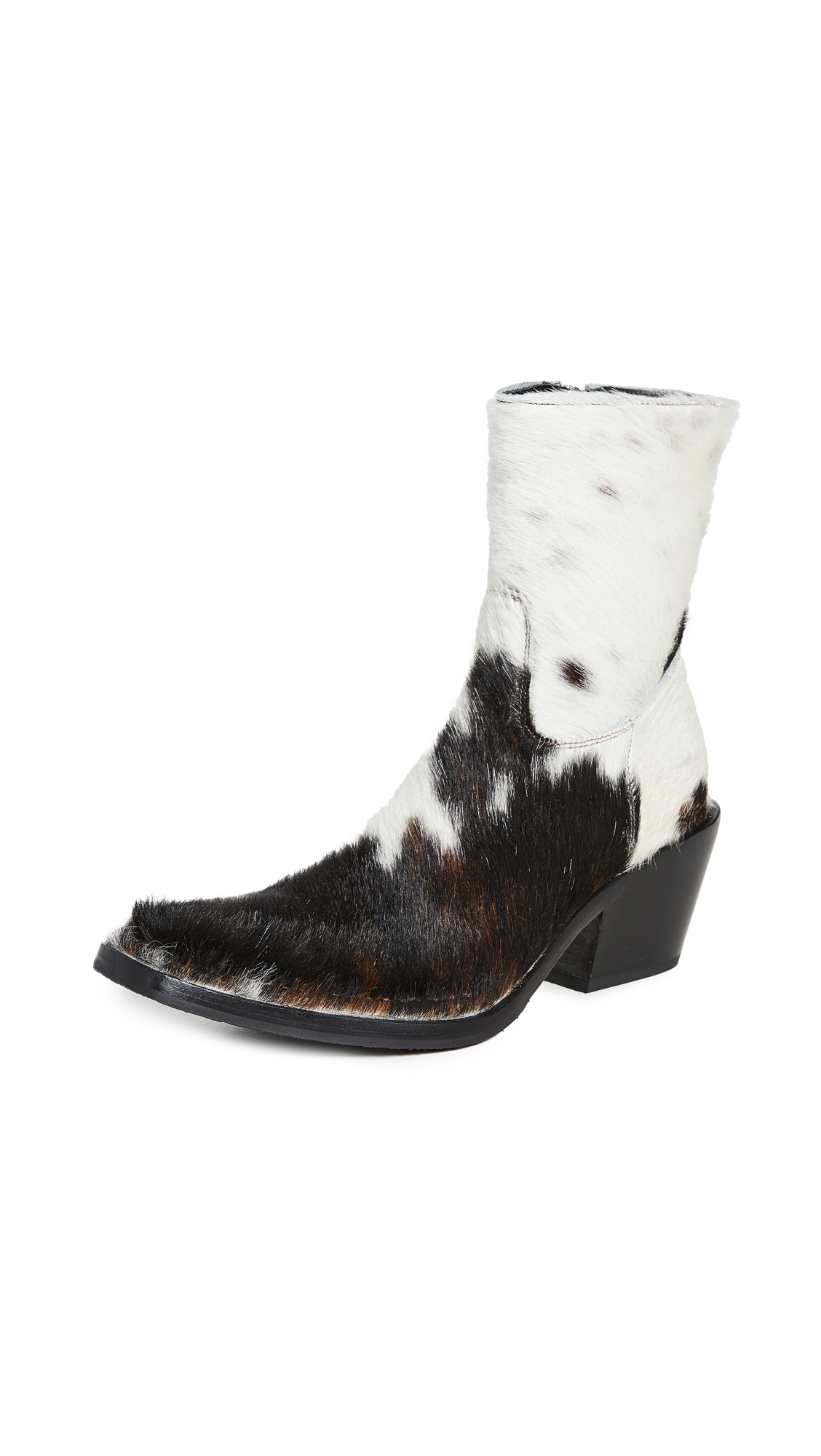 Buy Acne Studios online - photo of Acne Studios Calf Hair Cowboy Booties