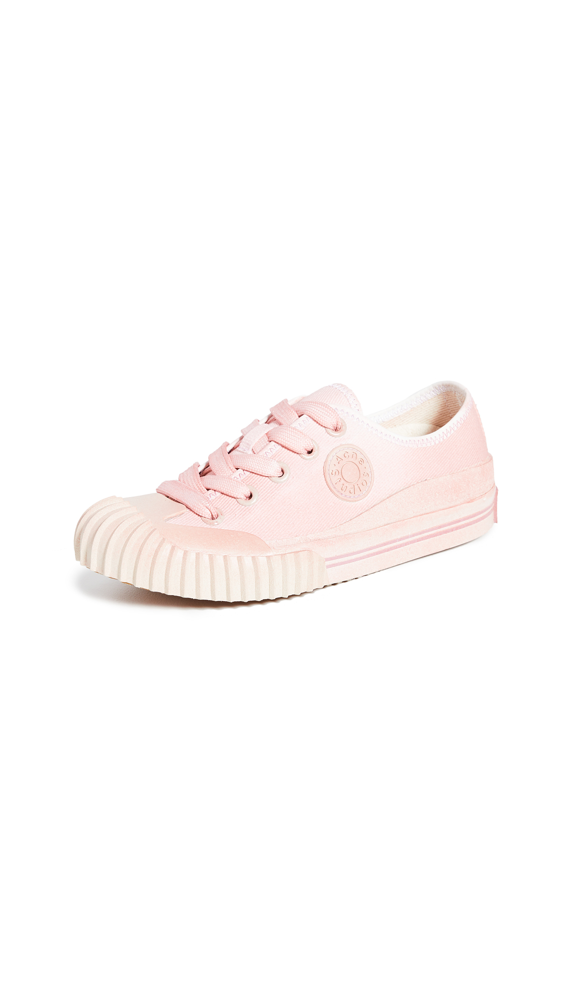 Buy Acne Studios online - photo of Acne Studios Logo Patch Dip Dye Sneakers