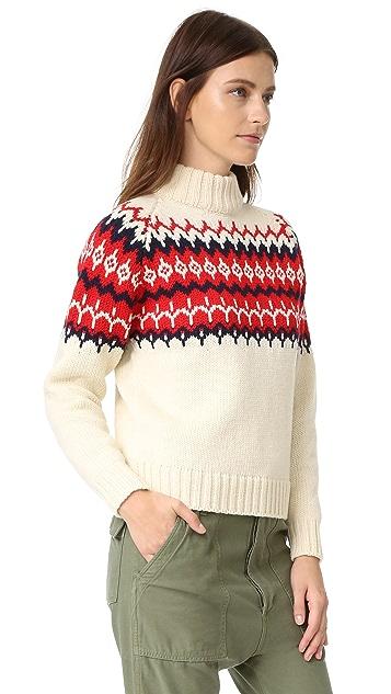 &Daughter Fair Isle Knit Sweater