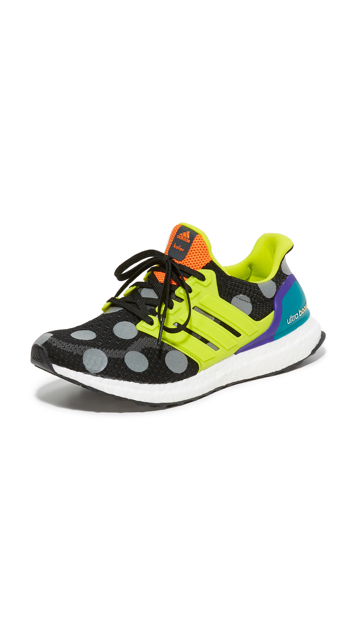 Adidas Ultra Boost Kolor Sneakers - Core Black/Solar Green/Grey at Shopbop