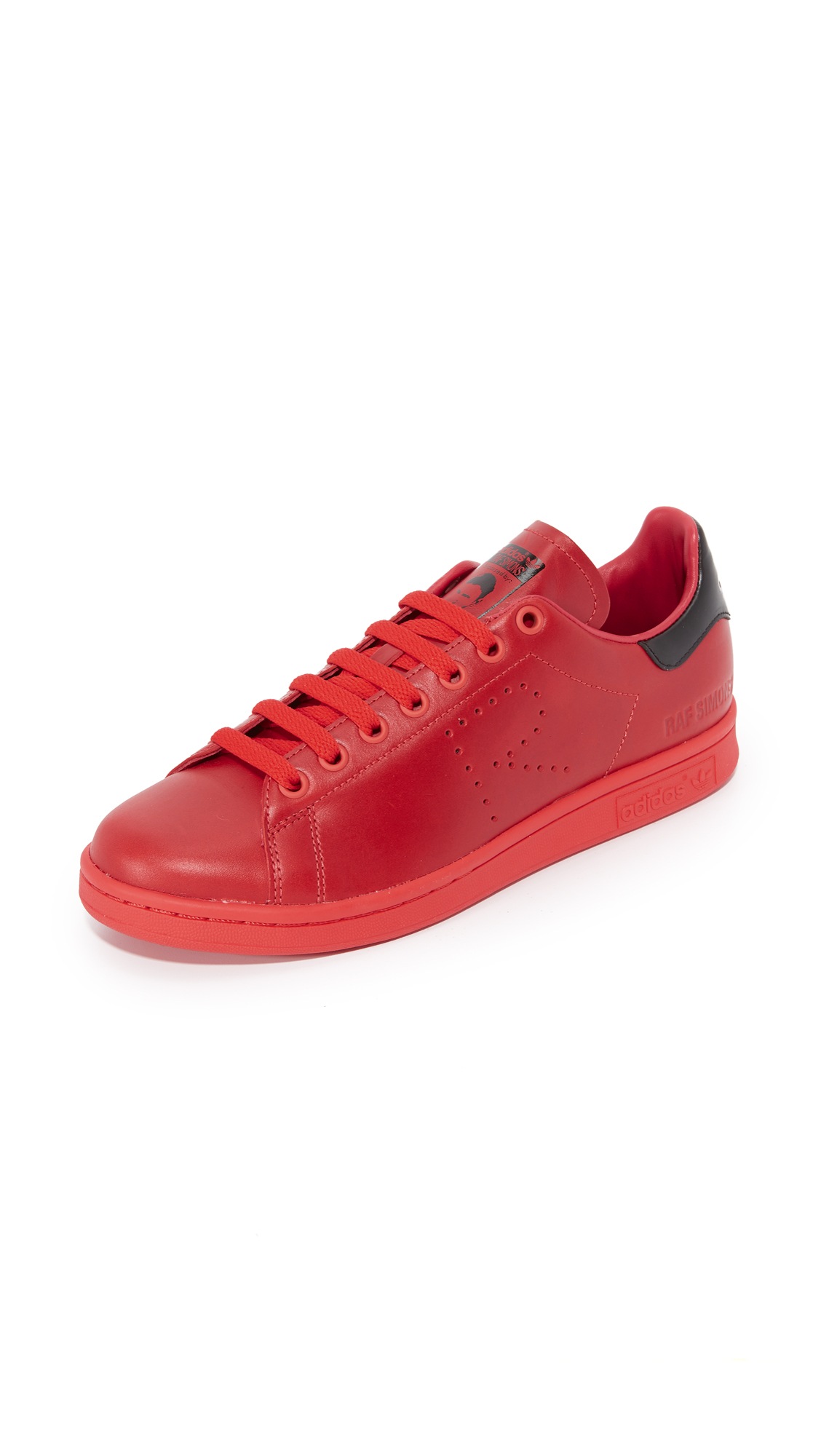 Adidas Raf Simons Stan Smith Sneakers - Tomato/Black/Tomato at Shopbop