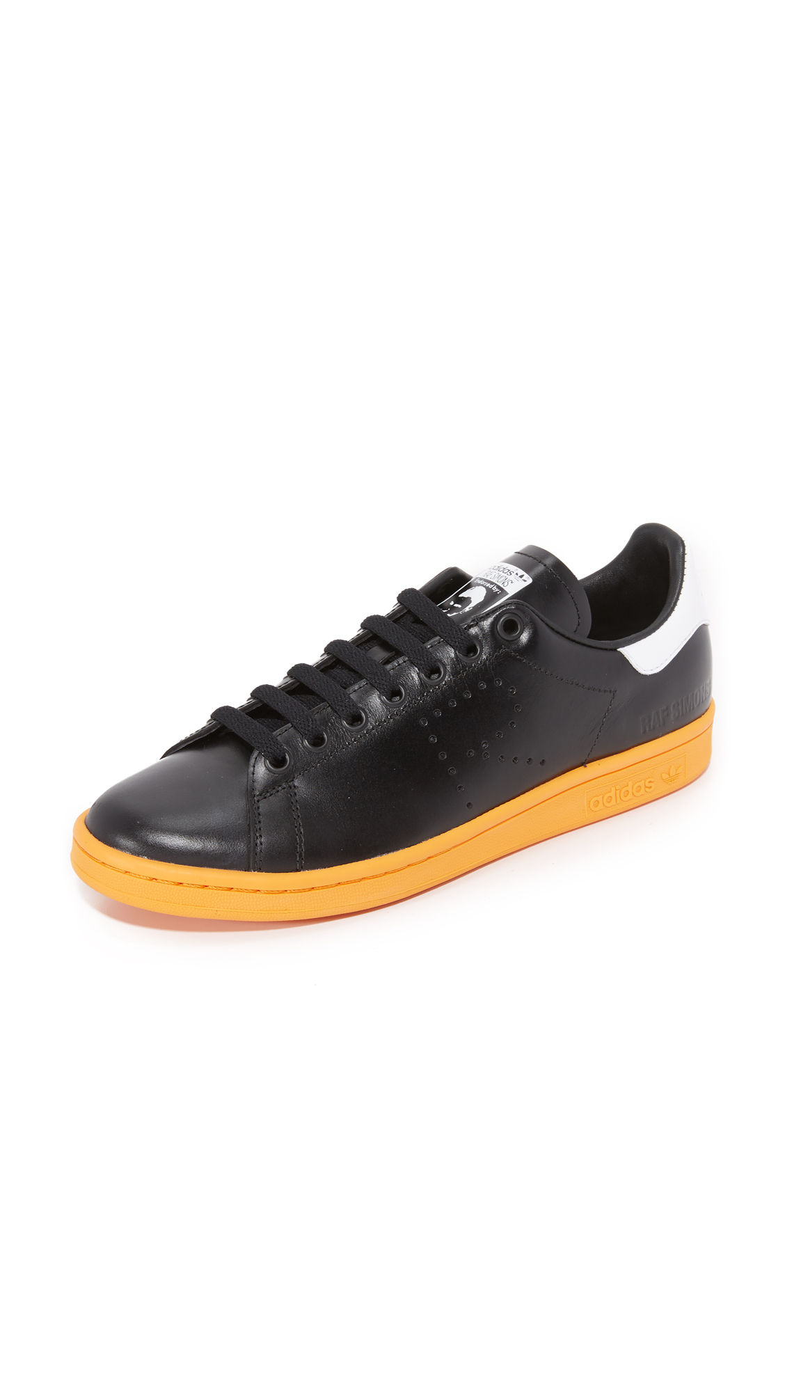 Adidas Raf Simons Stan Smith Sneakers - Black/White/Bright Orange at Shopbop