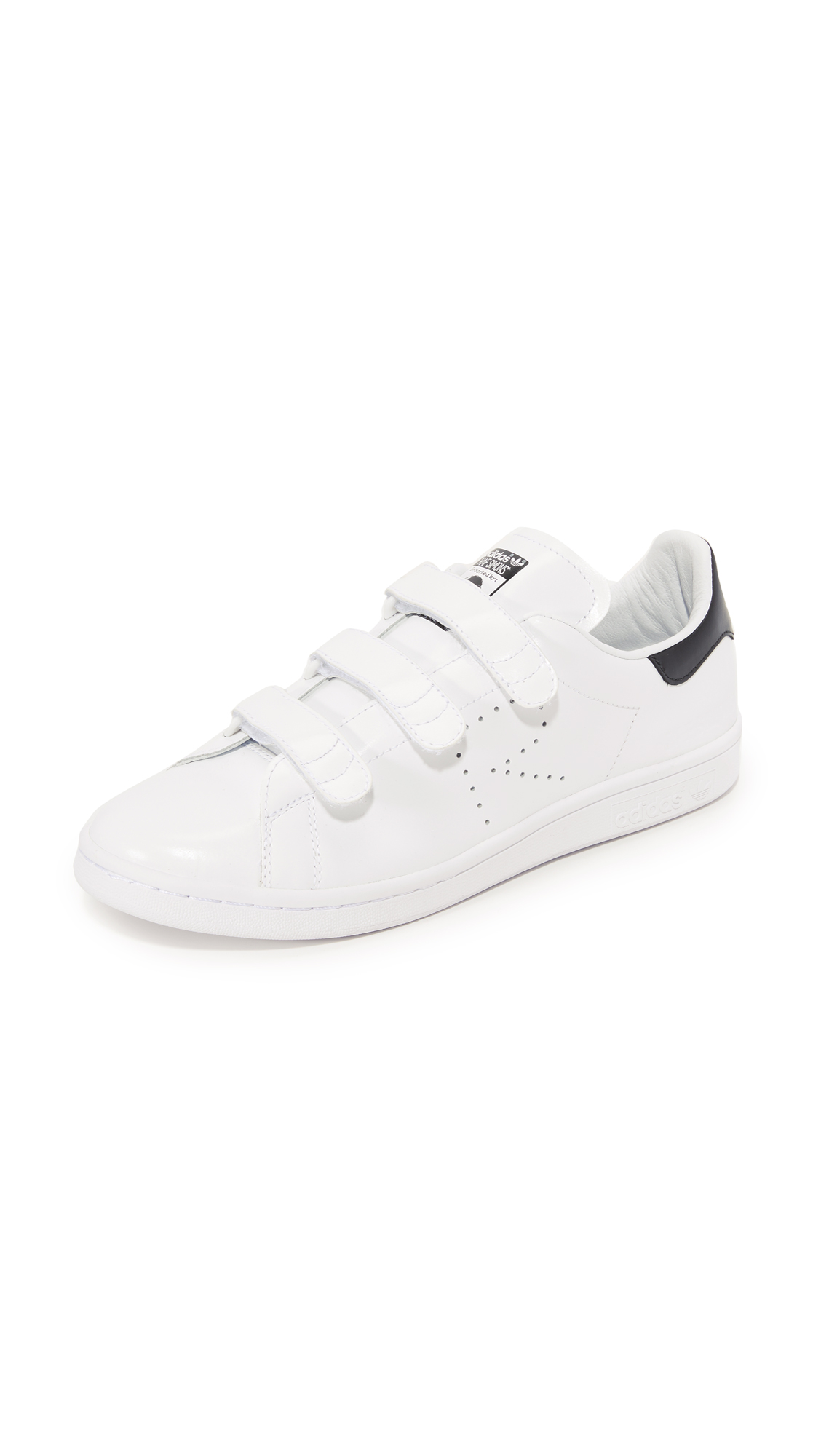 Adidas Raf Simons Stan Smith Sneakers - White/White/Black at Shopbop