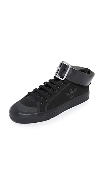 Adidas Raf Simons Spirit Buckle Sneakers - Black/Black/Bright Yellow