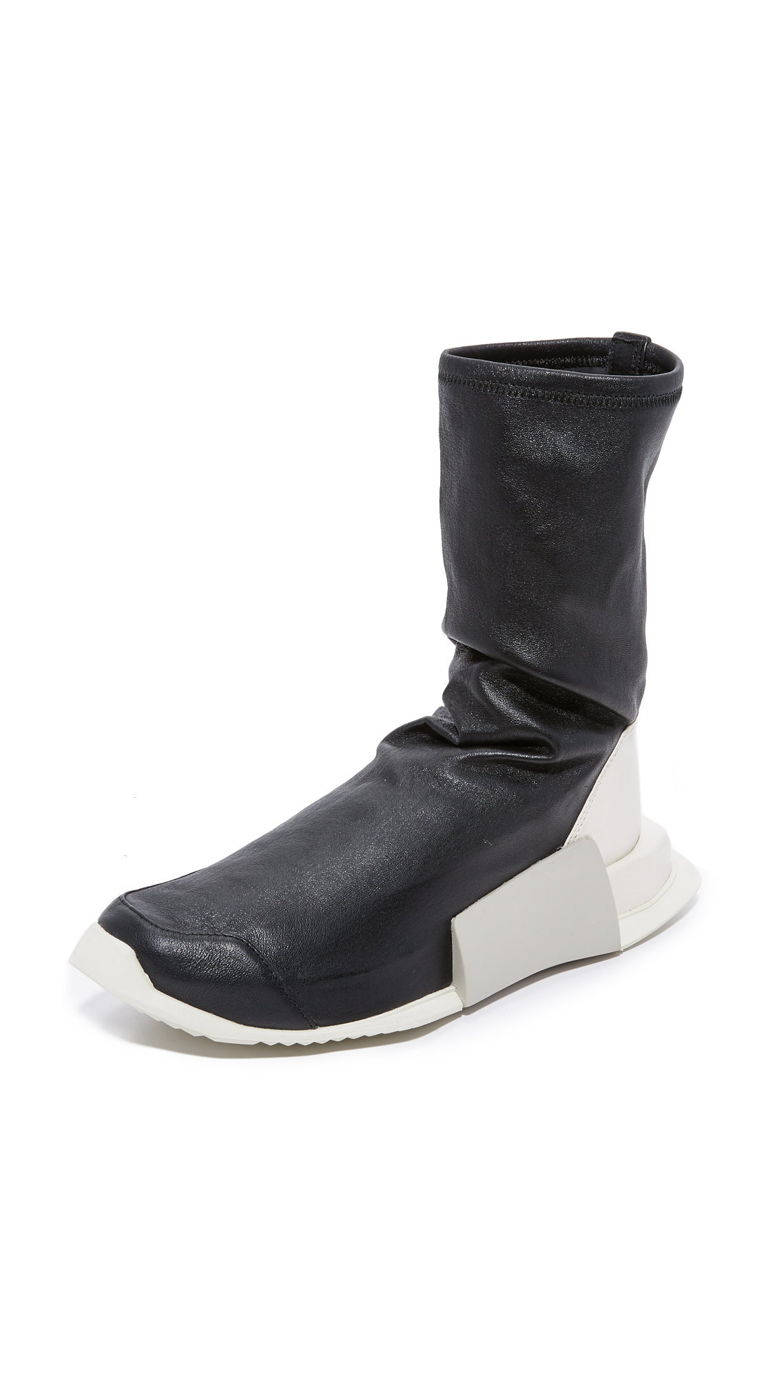 Adidas Adidas X Rick Owens Level High Runners - Black/Milk/Dinge at Shopbop