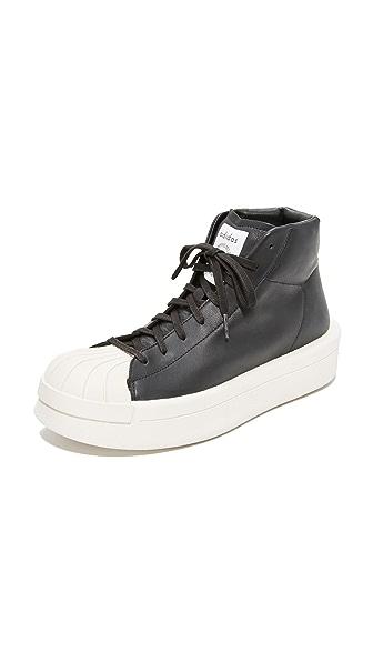 Adidas Rick Owns Mastodon Pro Model II Sneakers - Black/Milk/Milk