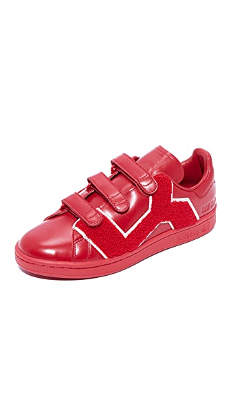 Adidas Raf Simons Stan Smith Comfort Badge Sneakers - Red/Power/Red/Power Red