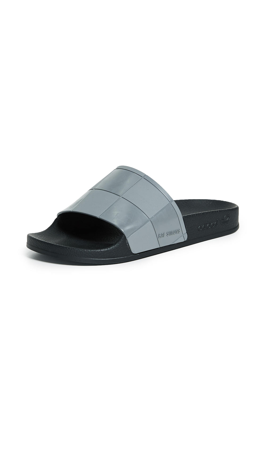 Adidas Raf Simons Adilette Checkerboard Slides - Black/Granite