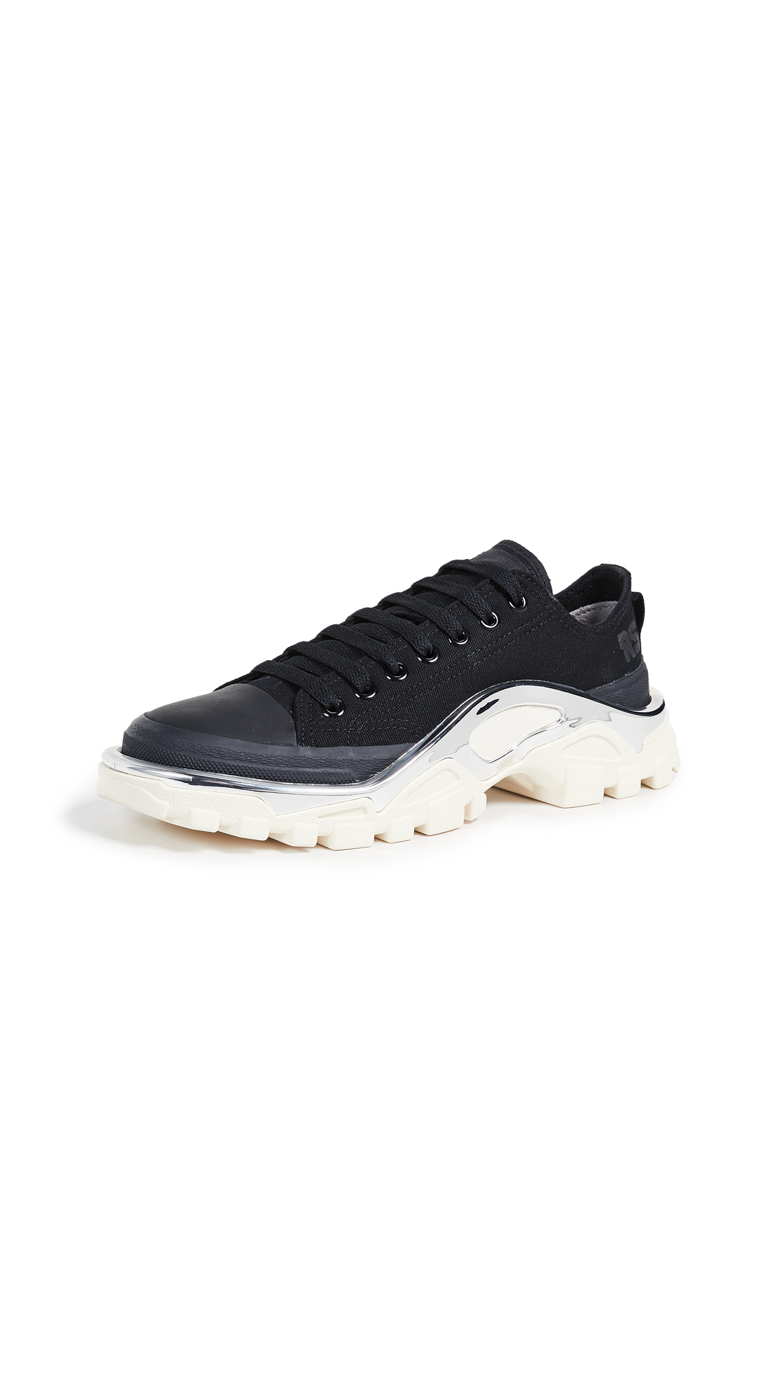 Adidas Raf Simons Detroit Runner Sneakers - Core Black/Core Black/Cream