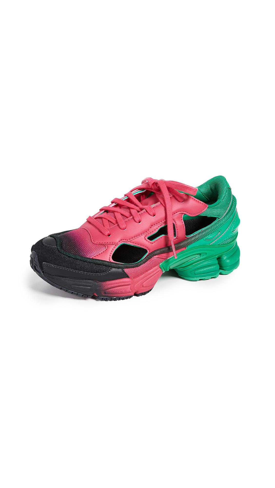 adidas x Raf Simons Replicant Ozweego Sneakers - Pink/Adidas Green/Core Black