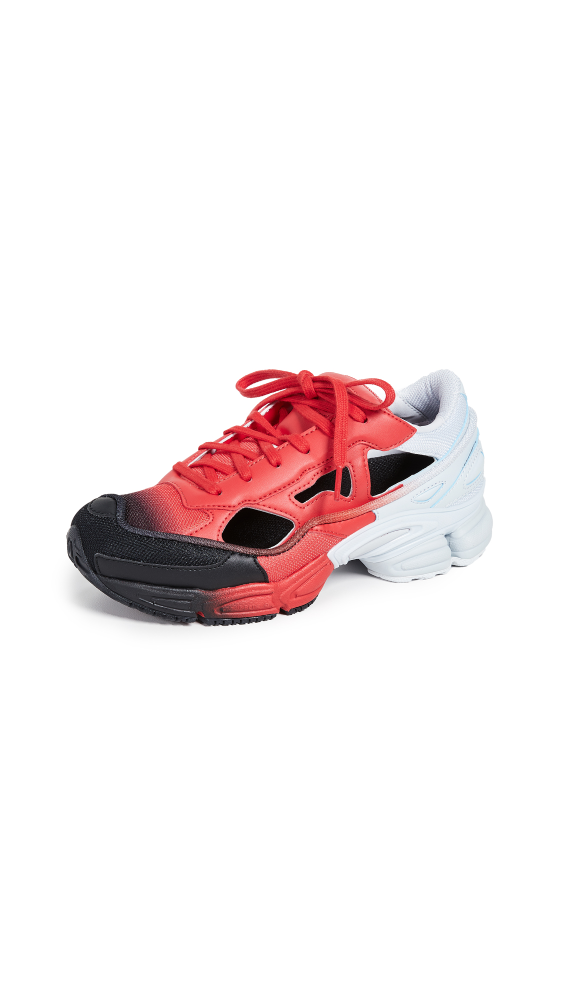 adidas x Raf Simons Replicant Ozweego Sneakers - Red/Halo Blue/Core Black