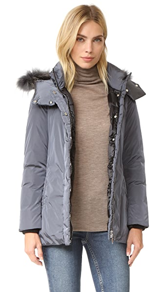 Add Down Down Jacket With Fur - Iron at Shopbop
