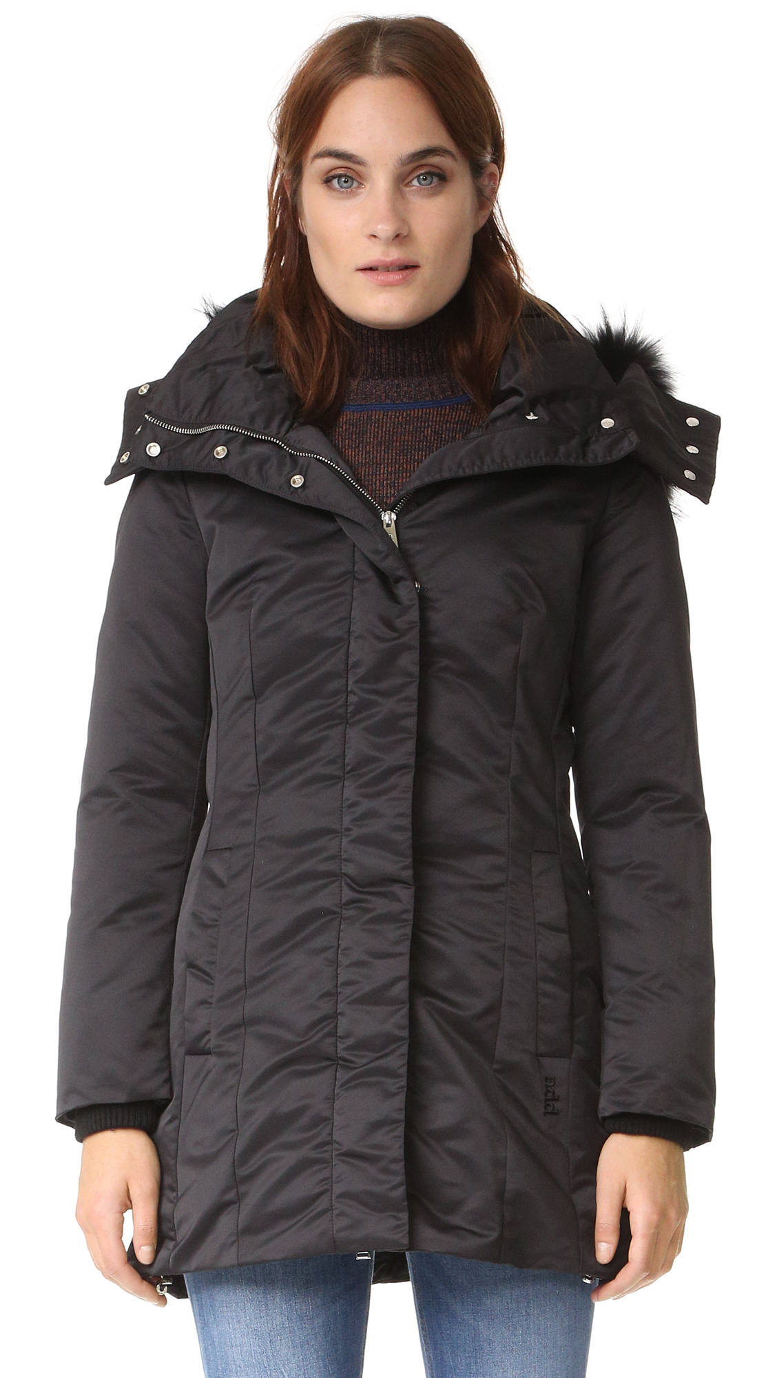 Add Down Down Parka With Fur - Black at Shopbop