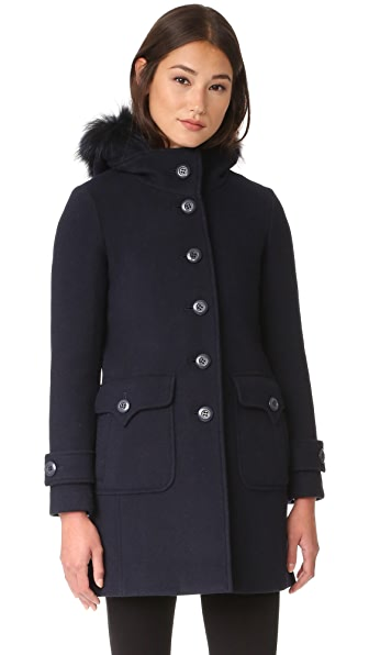 Add Down Wool Parka - Night Blue at Shopbop