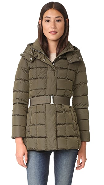 Add Down Belted Down Jacket - Mud at Shopbop