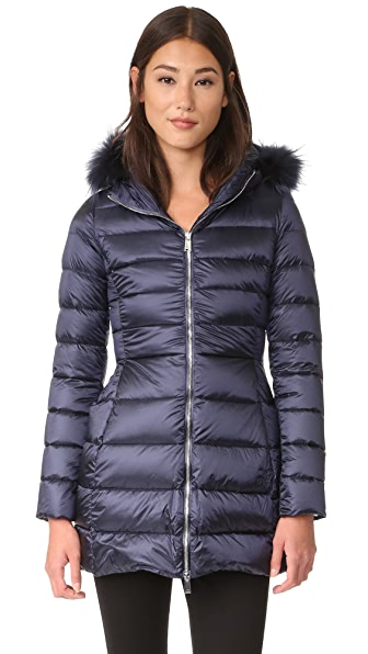 Add Down Down Coat With Fur - Add Navy at Shopbop
