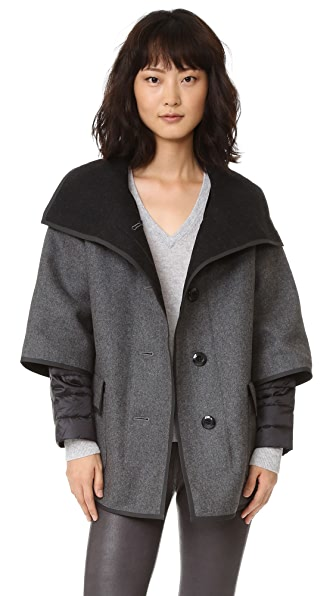 Add Down Double Face Wool Jacket - Grey Melange at Shopbop
