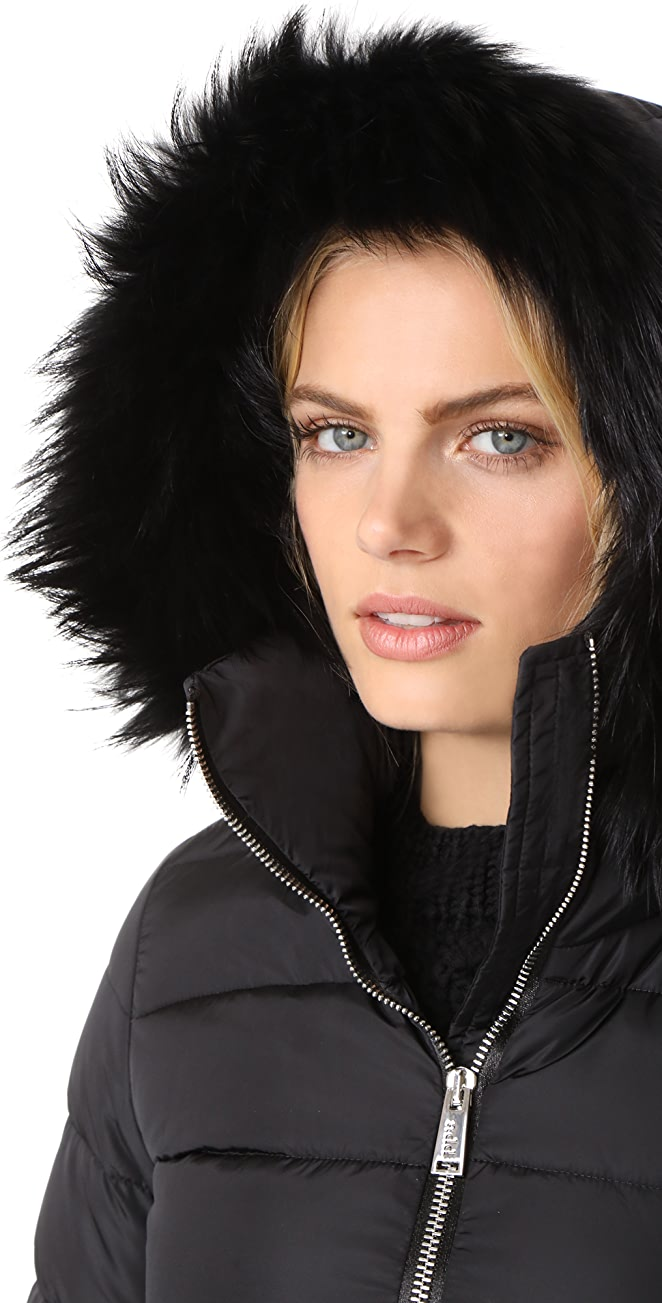 Add Down Down Coat with Fur | SHOPBOP