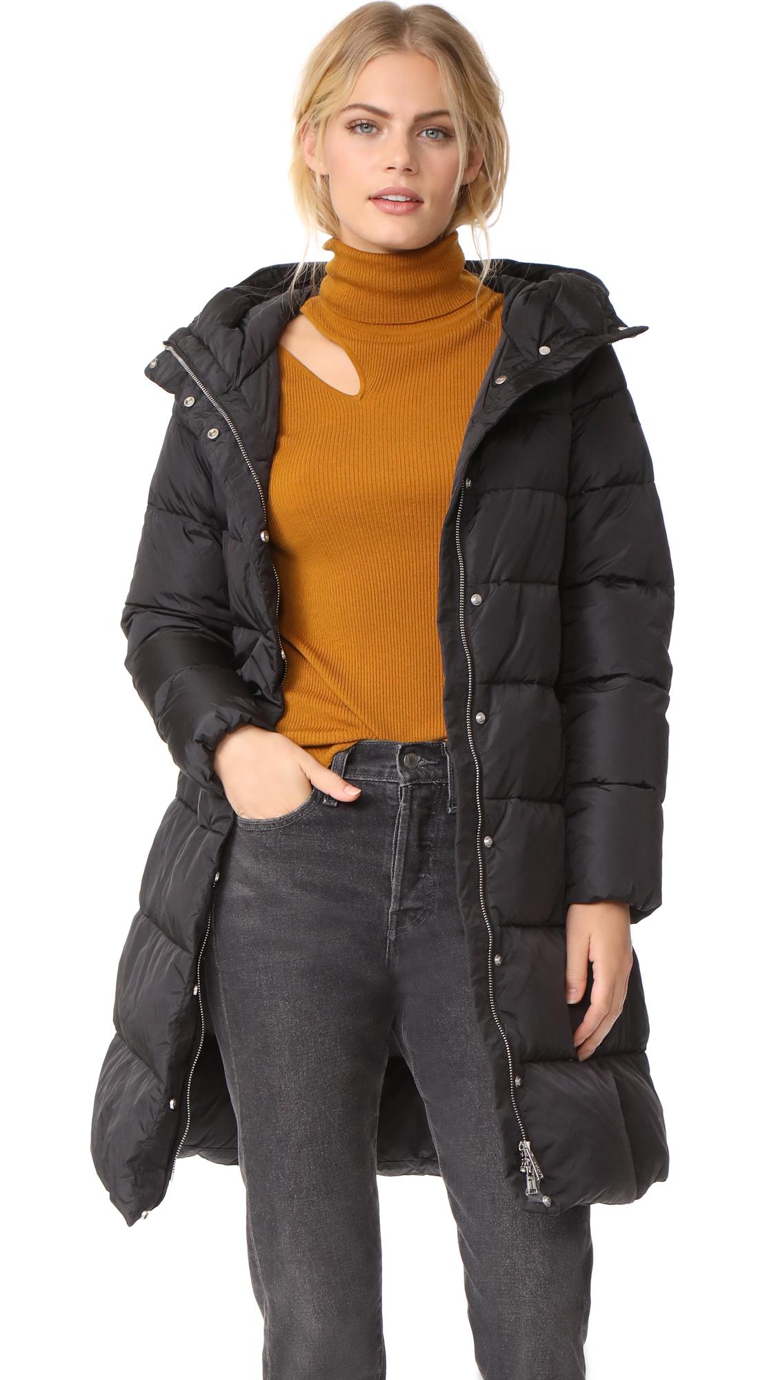 Add Down Hooded Down Coat - Black