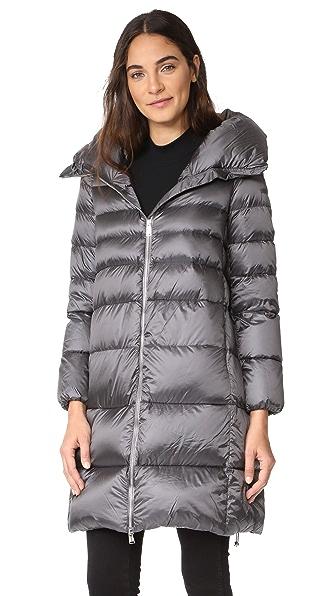 Add Down Hooded Down Coat
