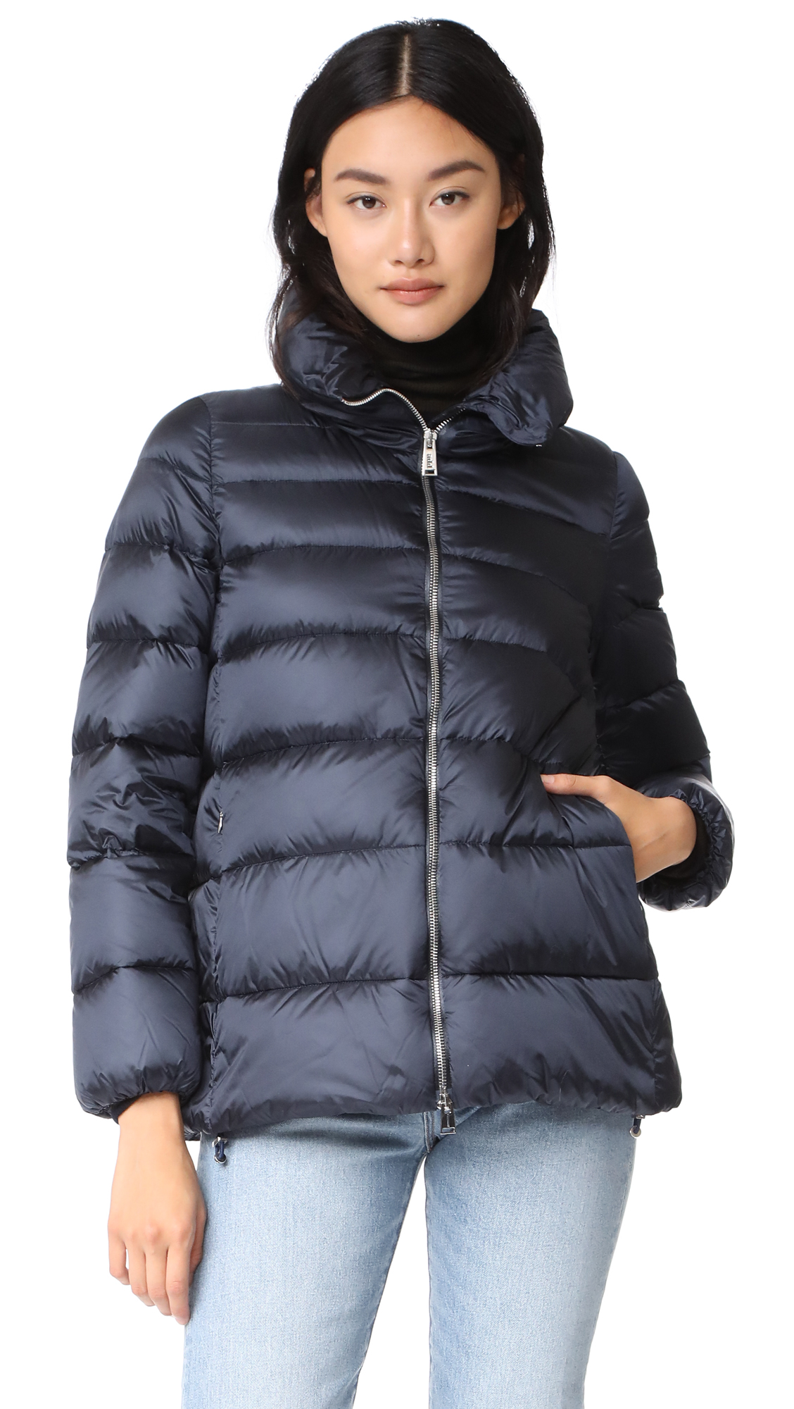 Add Down Puffer Down Jacket - Navy