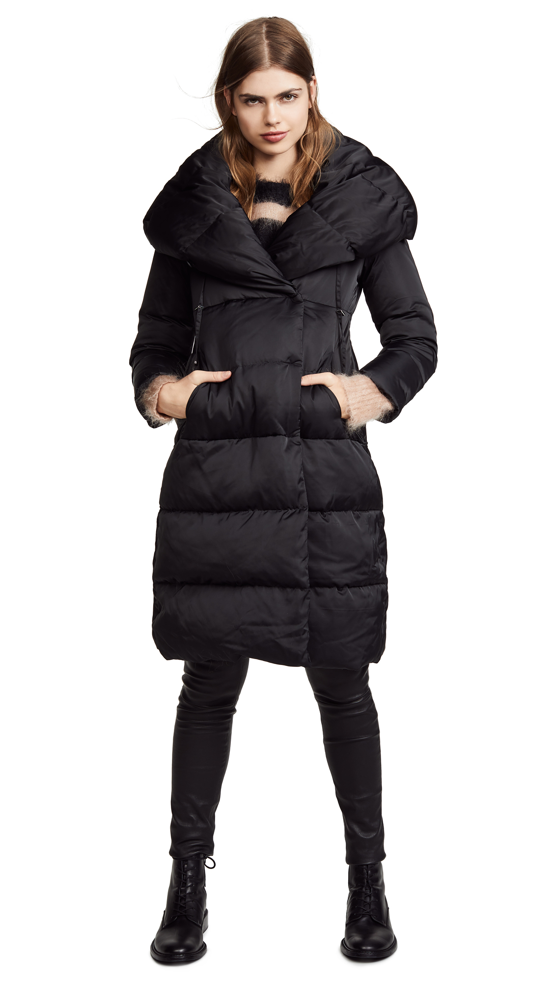 ADD Long Down Coat in Black