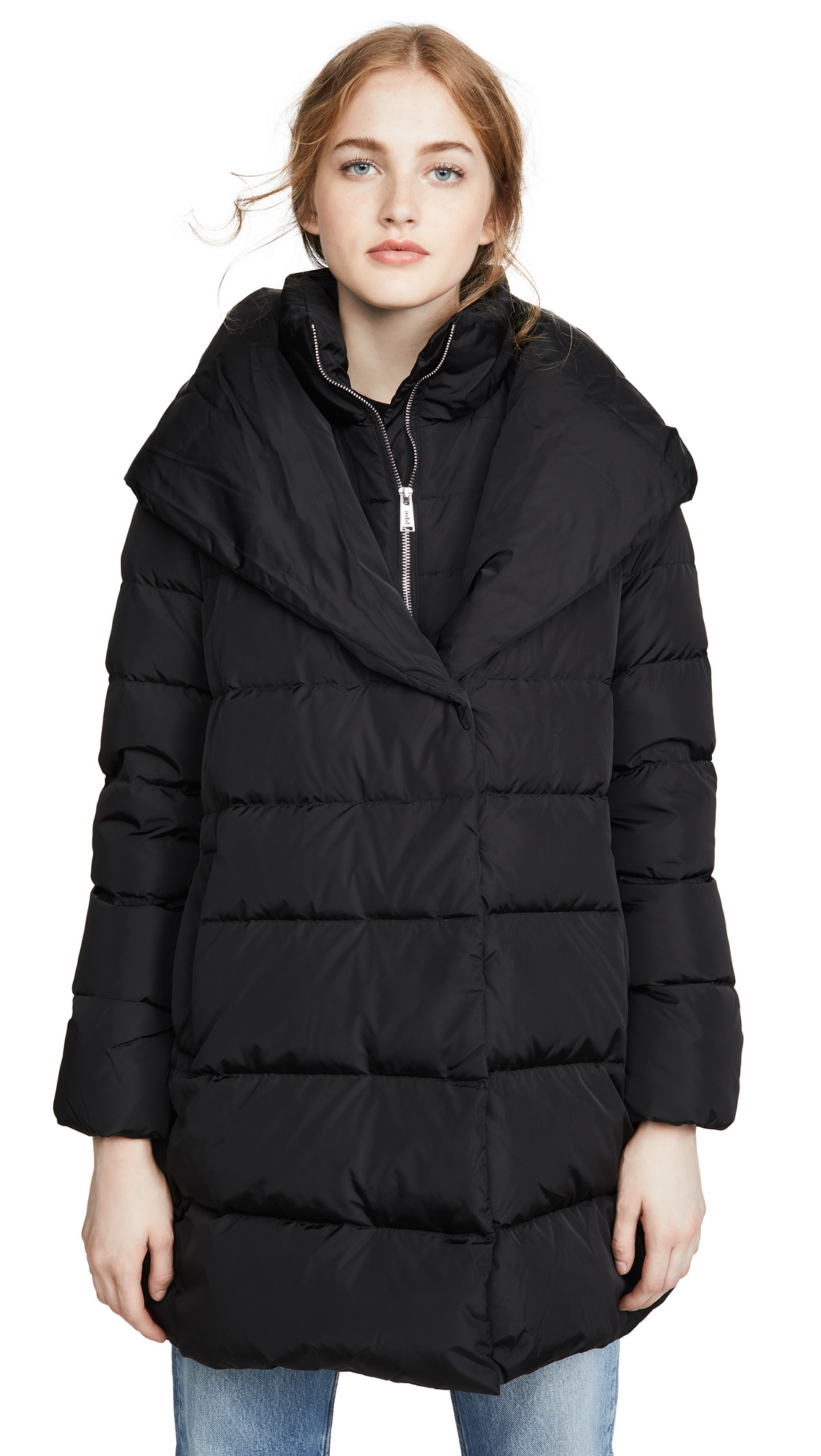 Add Down Hooded Down Coat - Black