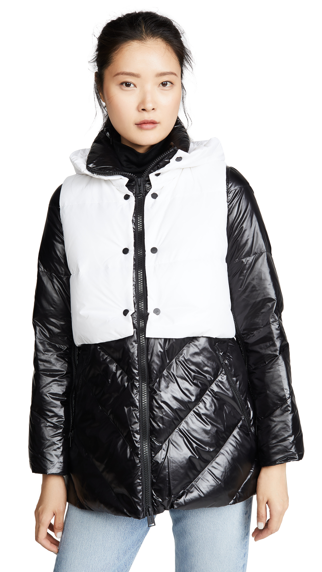 Buy Add Down online - photo of Add Down Down Jacket With Detachable Hooded Vest