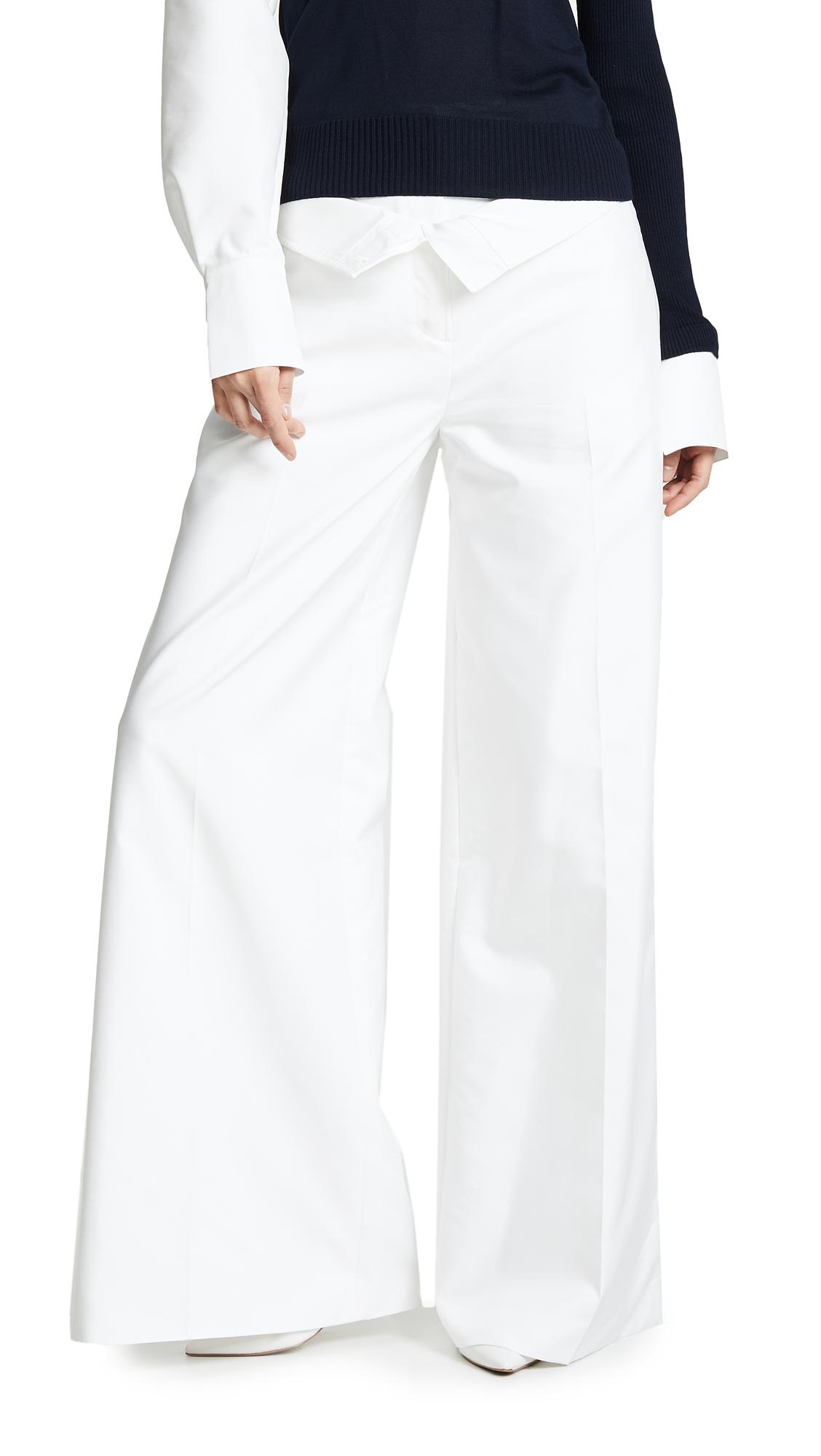 Adeam Double Waistband Trousers - White