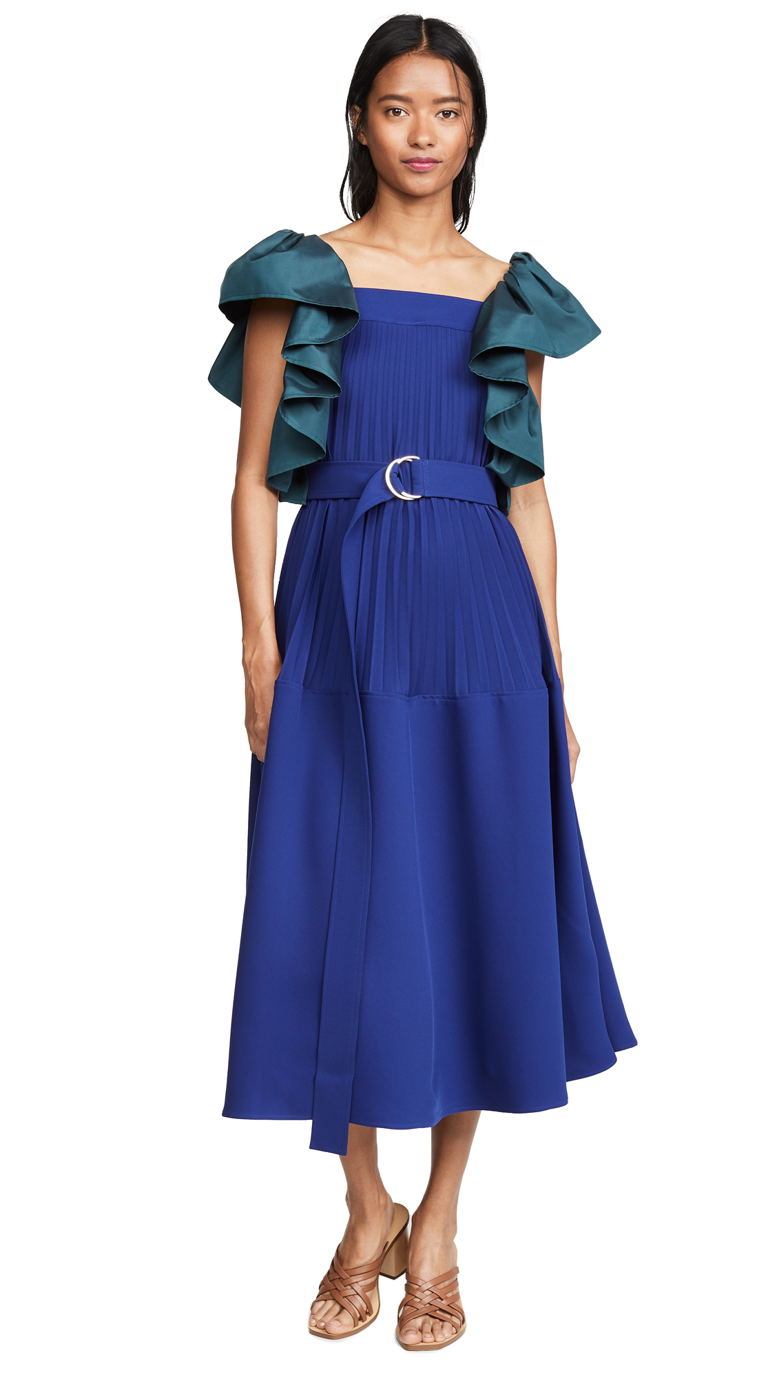 Adeam Pleated Parachute Dress - Montana
