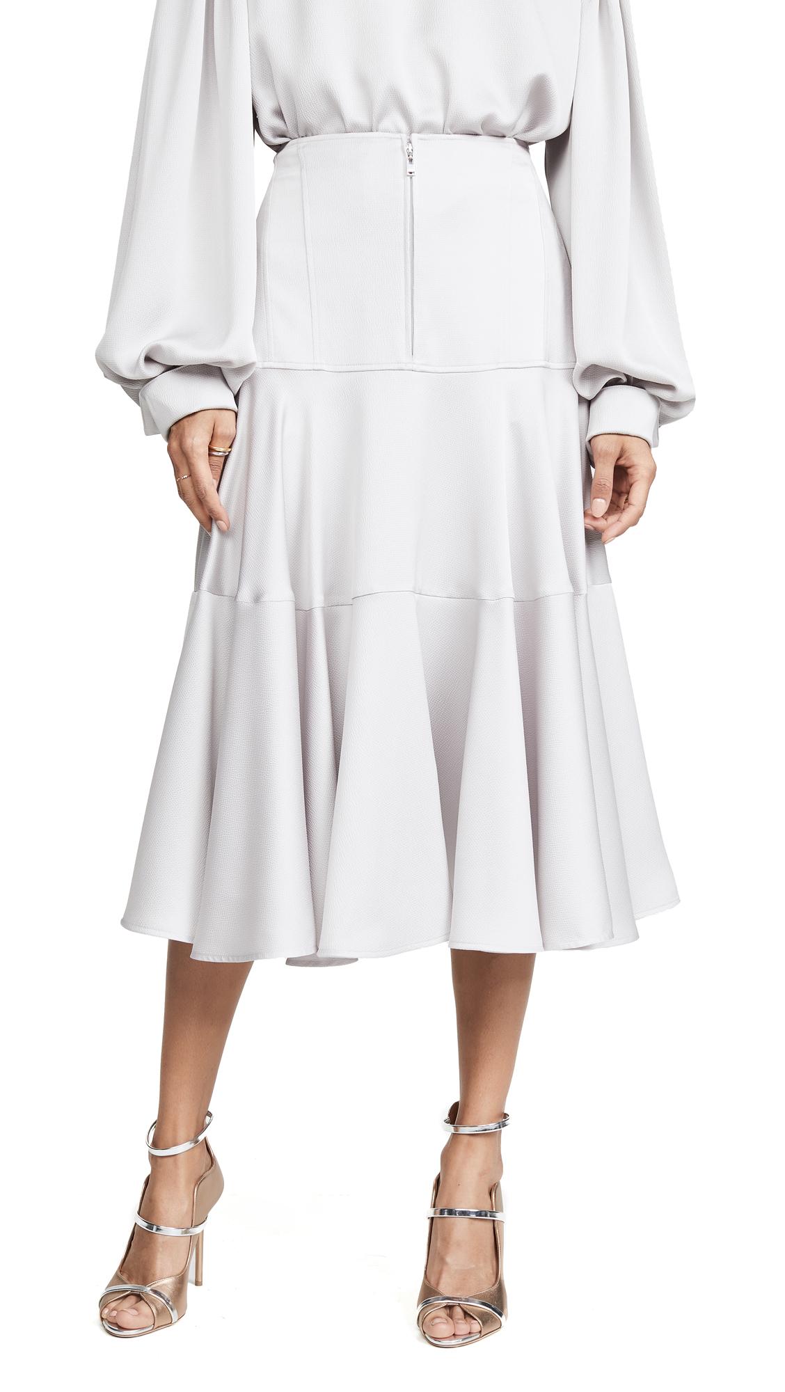Adeam Corset Skirt - Dove