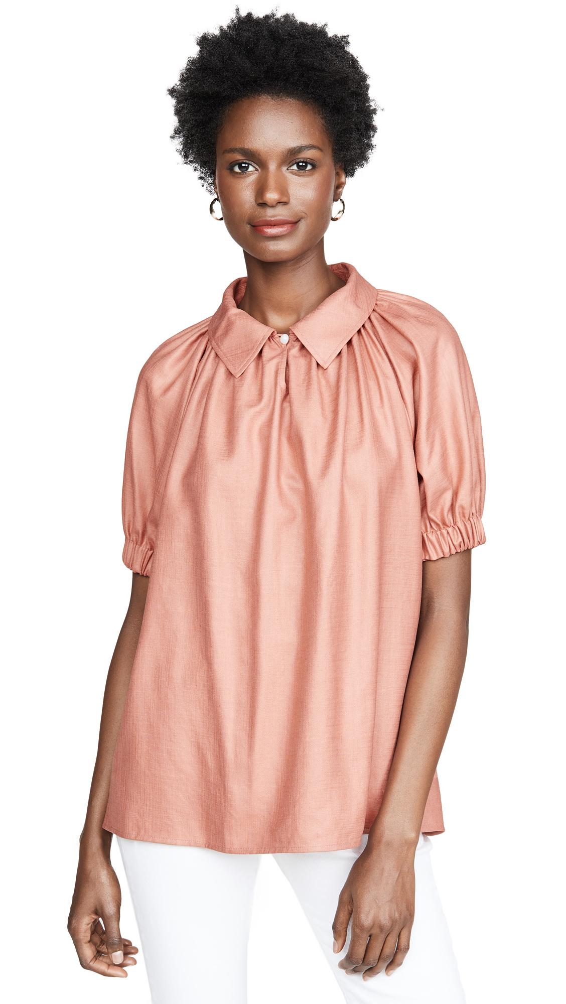 Adeam Balloon Shirt - Peach Coral