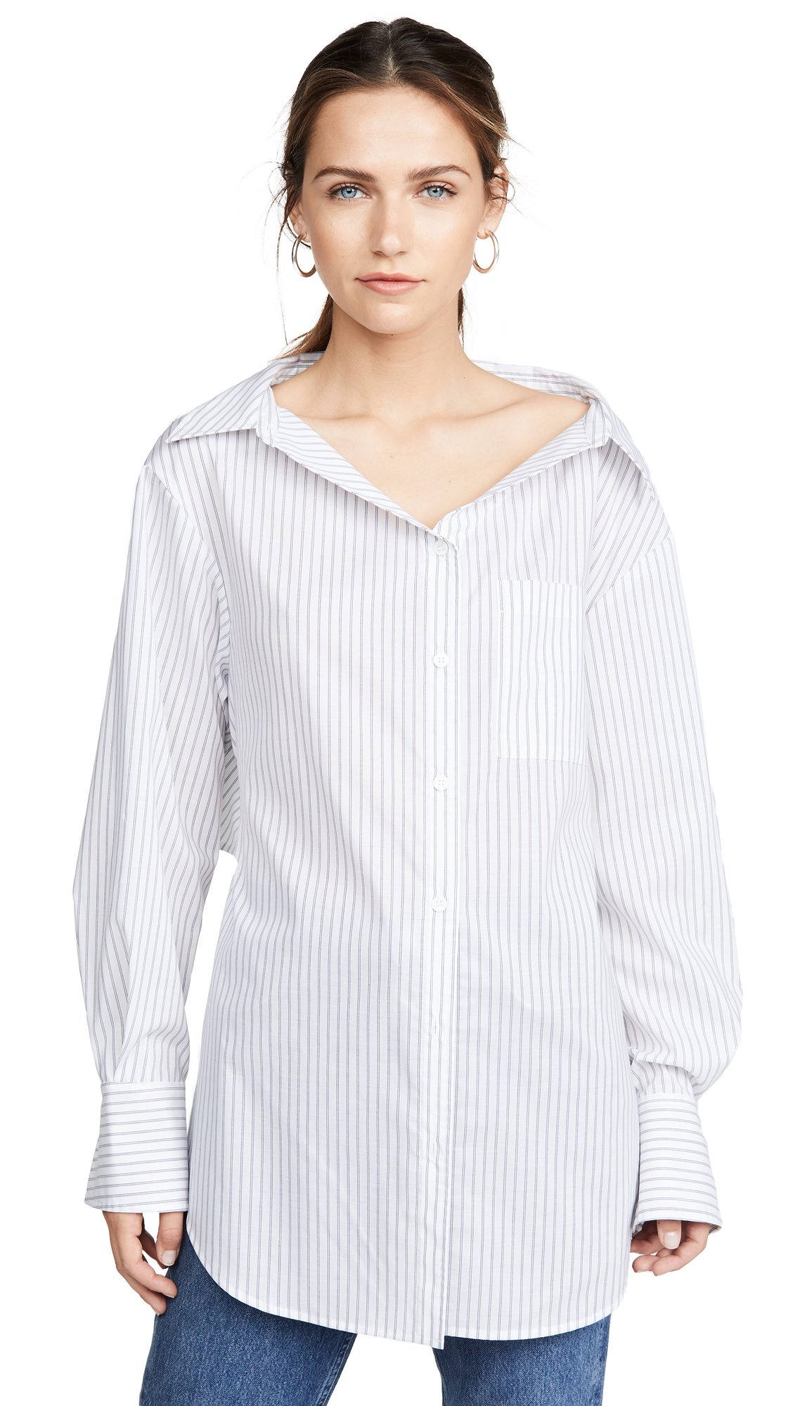 Adeam Ruched Parachute Shirt - White