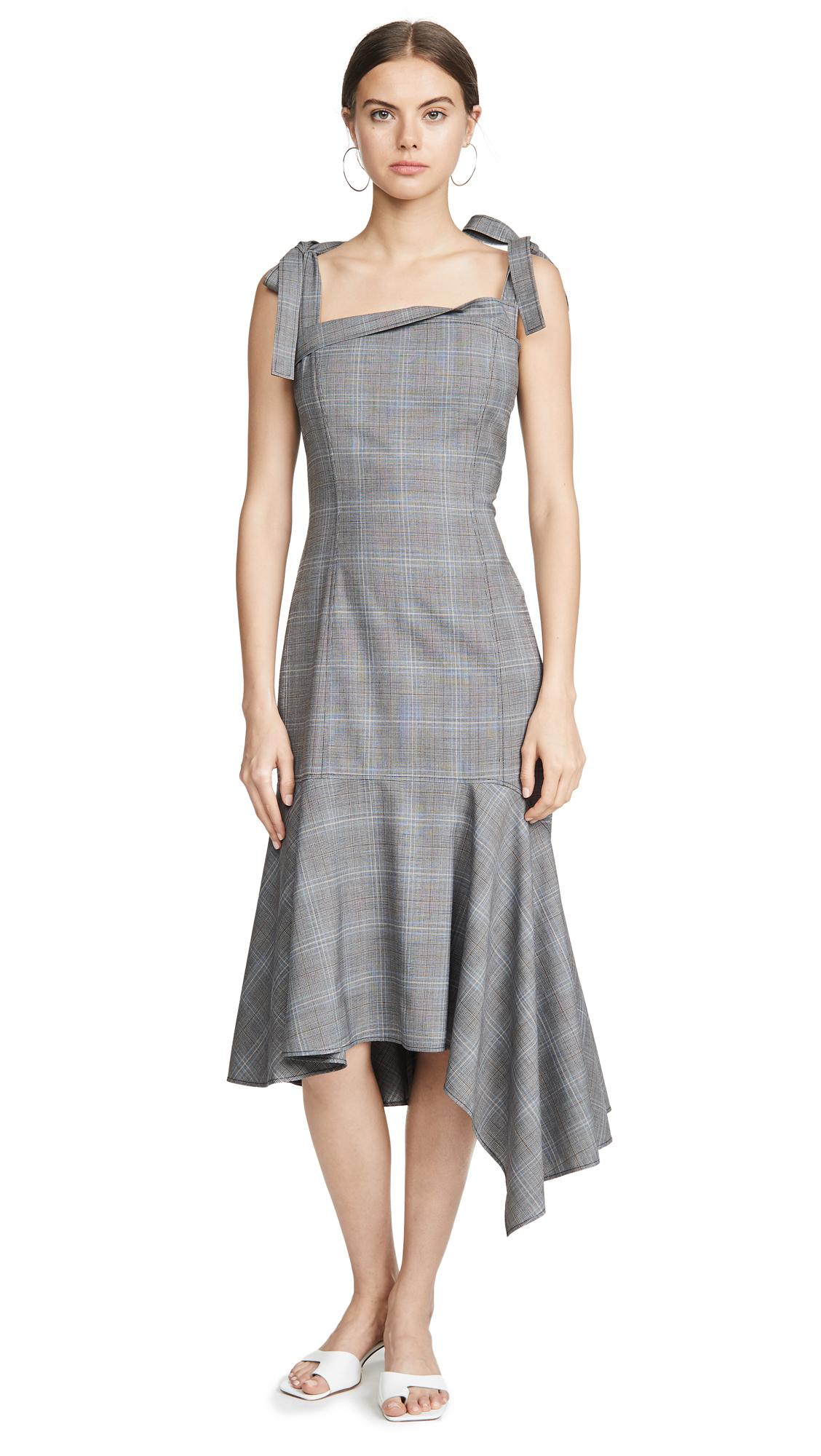 Adeam Bustier Handkerchief Dress - Slate
