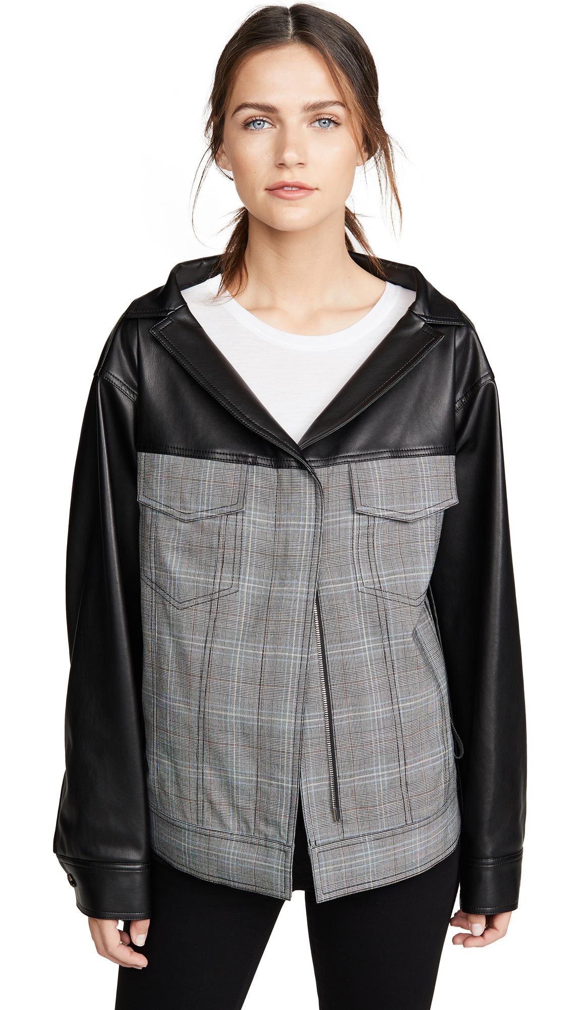 Adeam Oversized Ruched Jacket - Slate