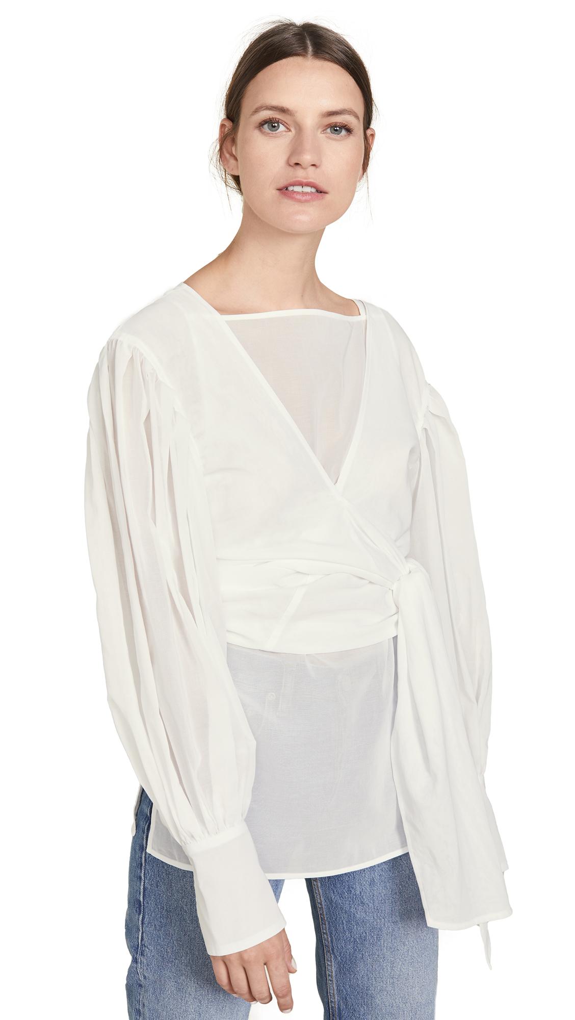 Buy Adeam online - photo of Adeam Layered Tied Sash Shirt