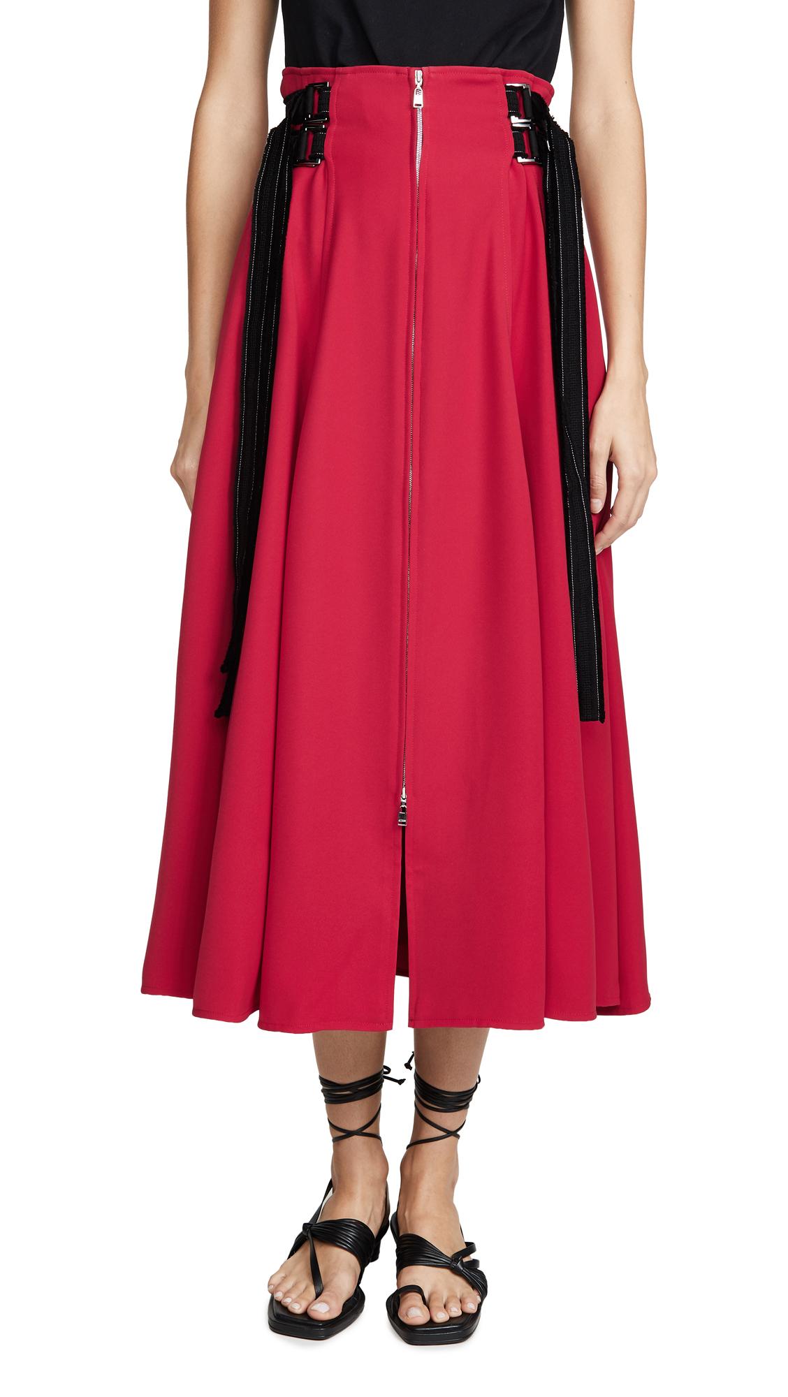 Adeam Zip Up Skirt - Scarlet