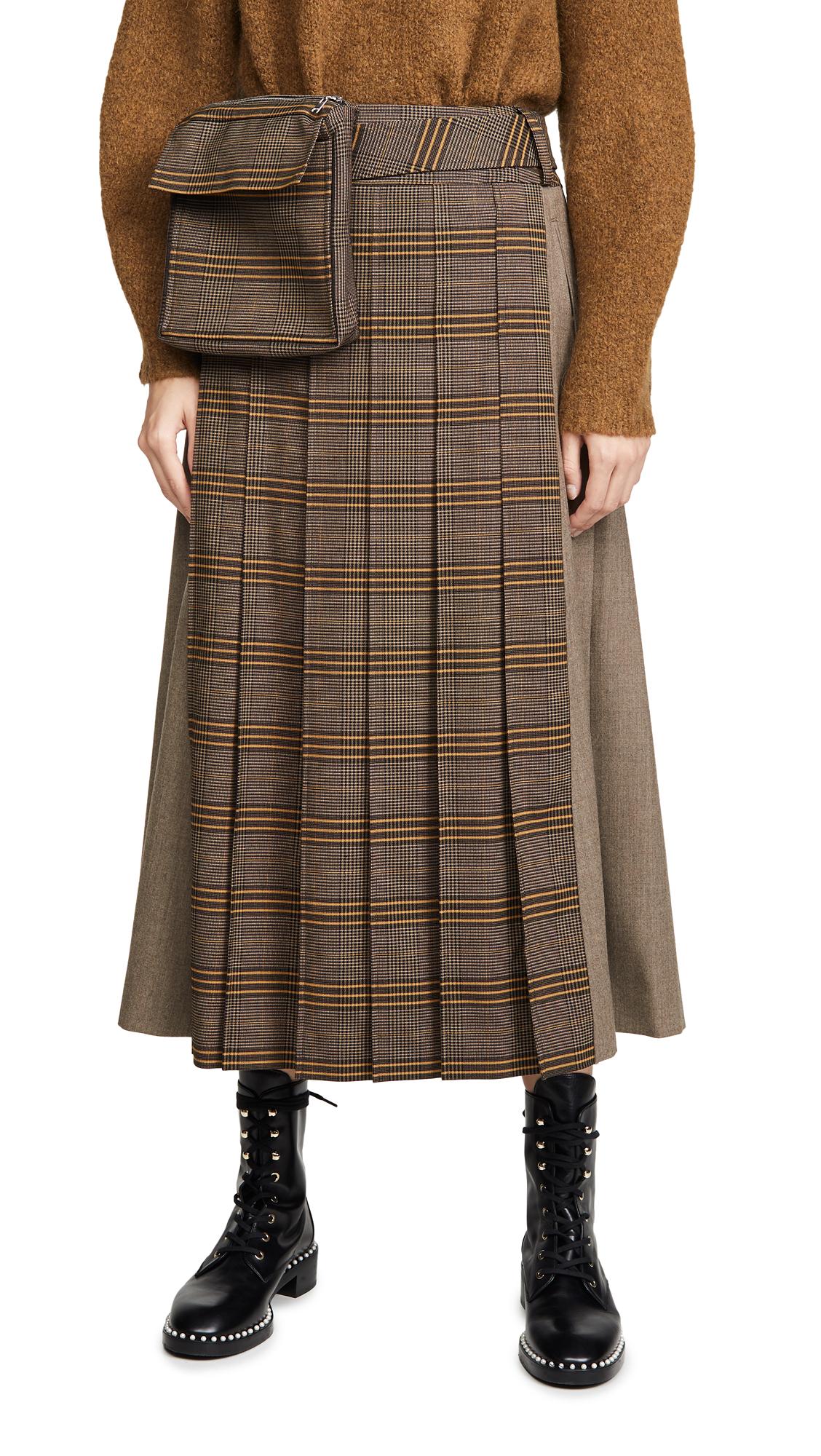 Adeam Workwear Pleated Skirt - Turmeric