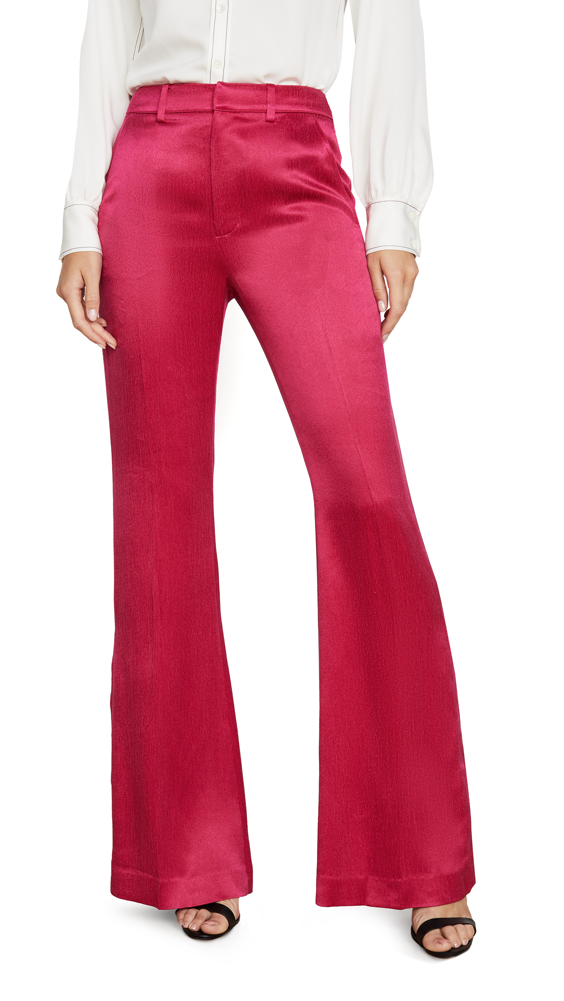 Adeam Bootleg Pants - Fuchsia